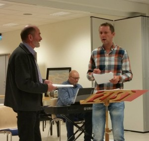 Øystein sammen korets første dirigent, Jostein Fagertun og Tor-Eirik Nergård